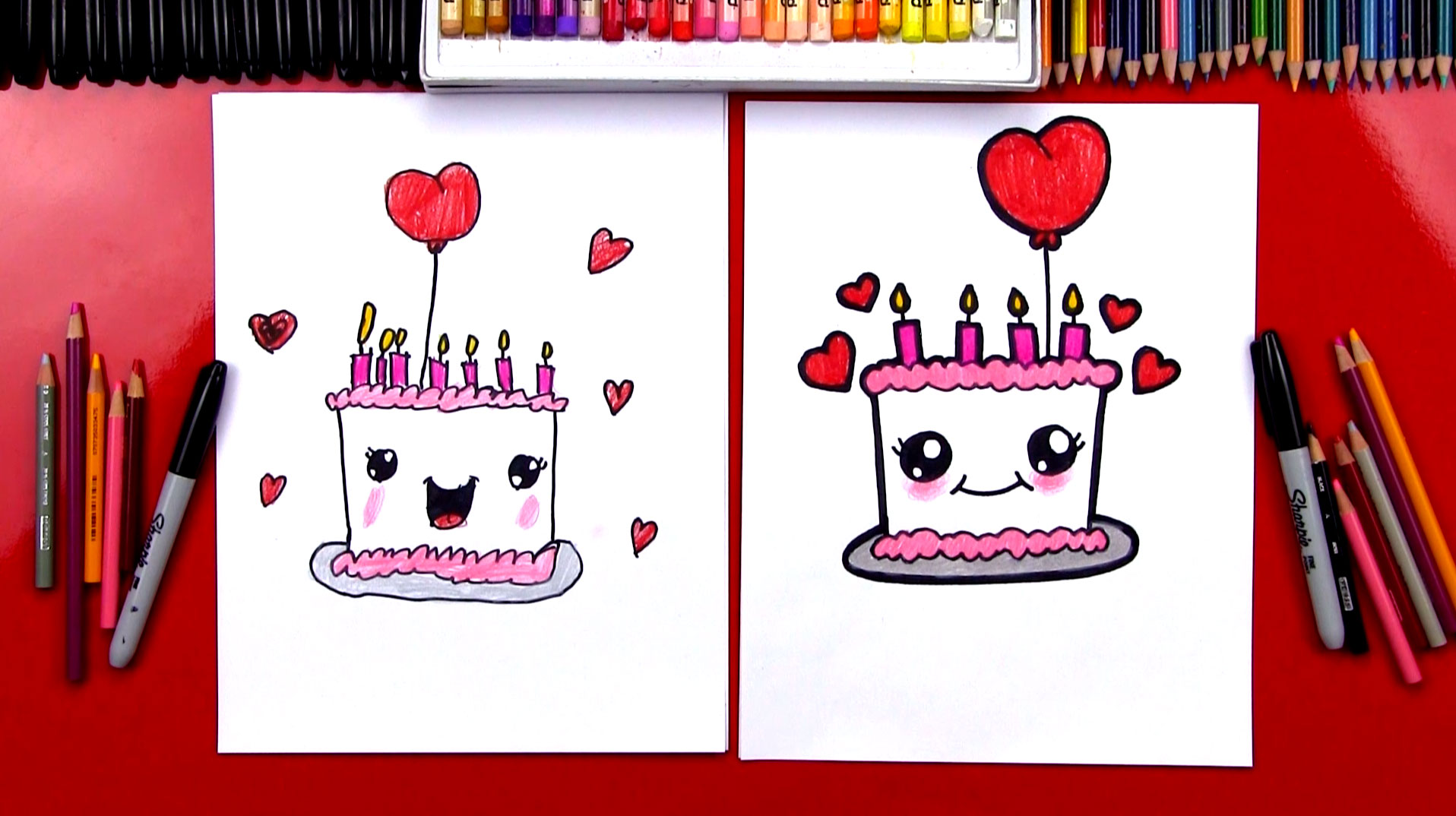 1916x1074 How To Draw A Cute Birthday Cake
