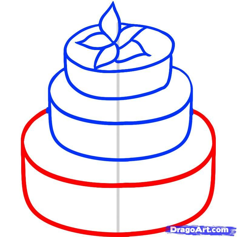 782x782 How To Draw A Wedding Cake Crafts And Diy Wedding
