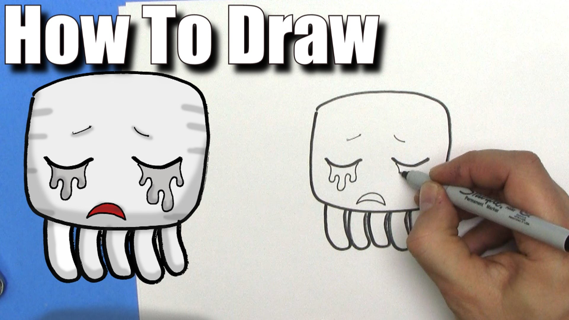 1920x1080 How To Draw A Cute Cartoon Minecraft Ghast