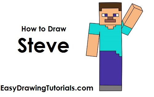 500x315 How To Draw Steve Minecraft Minecraft Steve