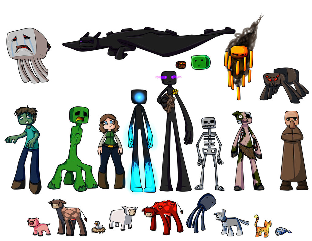 Coloring Pages For Minecraft : Minecraft cartoon drawing at getdrawings free for personal