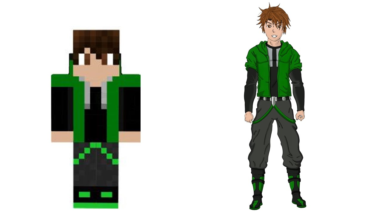 1280x724 Drawing Minecraft Character In Anime Style (Speedpaint)
