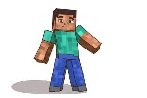 300x200 How To Draw Minecraft Characters