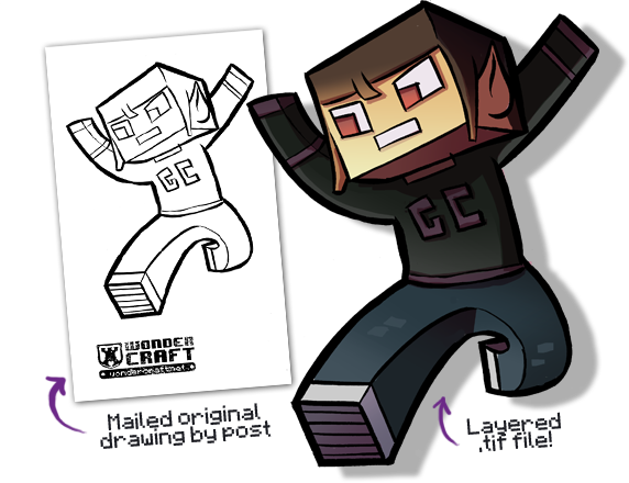 Minecraft character drawing at getdrawings free for personal 300x200 how to draw minecraft characters 1 572x440 monthly epic contest may wondercraft maxwellsz