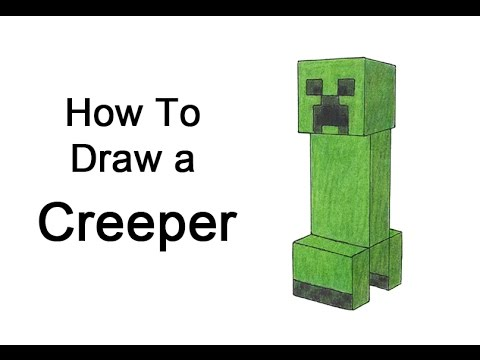 480x360 How To Draw A Creeper From Minecraft