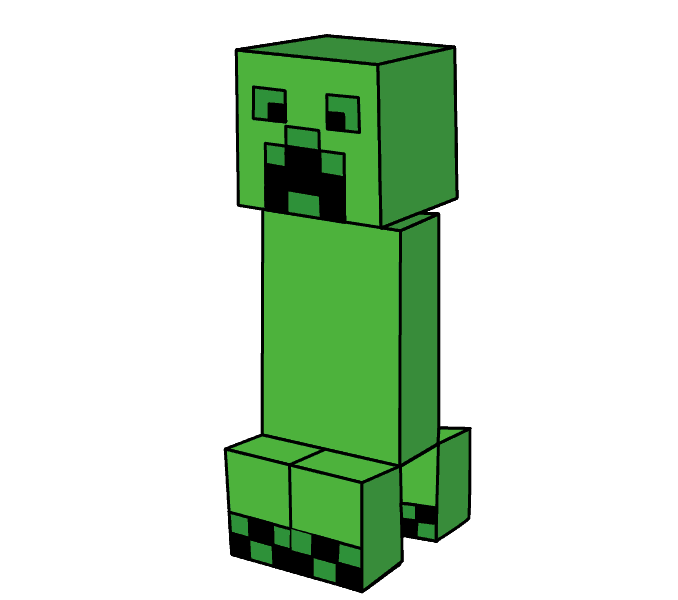 678x600 How To Draw A Minecraft Creeper Easy Step By Step Drawing Guides
