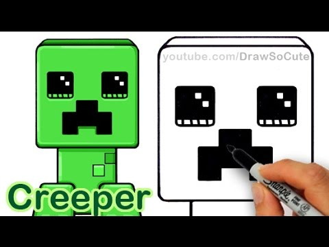 480x360 How To Draw A Minecraft Creeper Cute And Easy