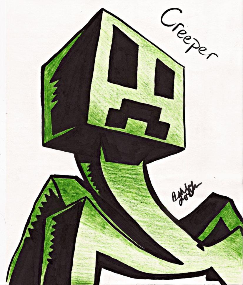 826x968 Minecraft Creeper By Ashleyjonesy
