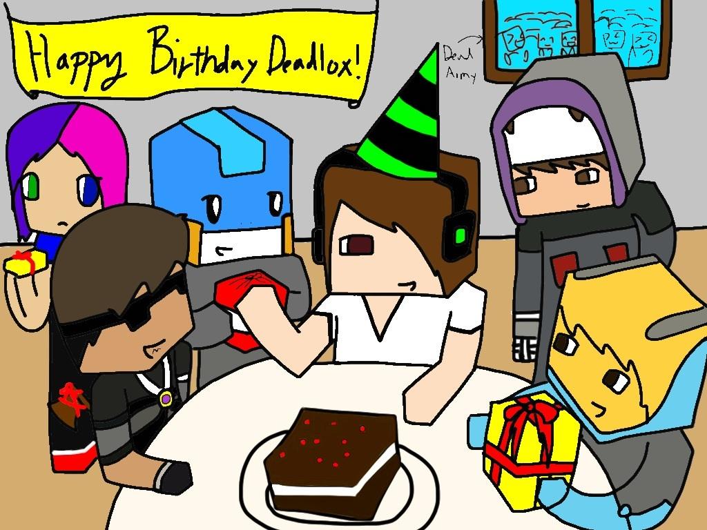 1024x768 Happy Birthday Deadlox! By Applemintarts