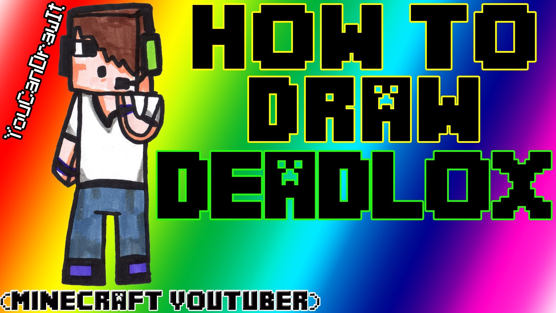 1920x1080 How To Draw Deadlox Minecraft Youtubers Youcandrawit