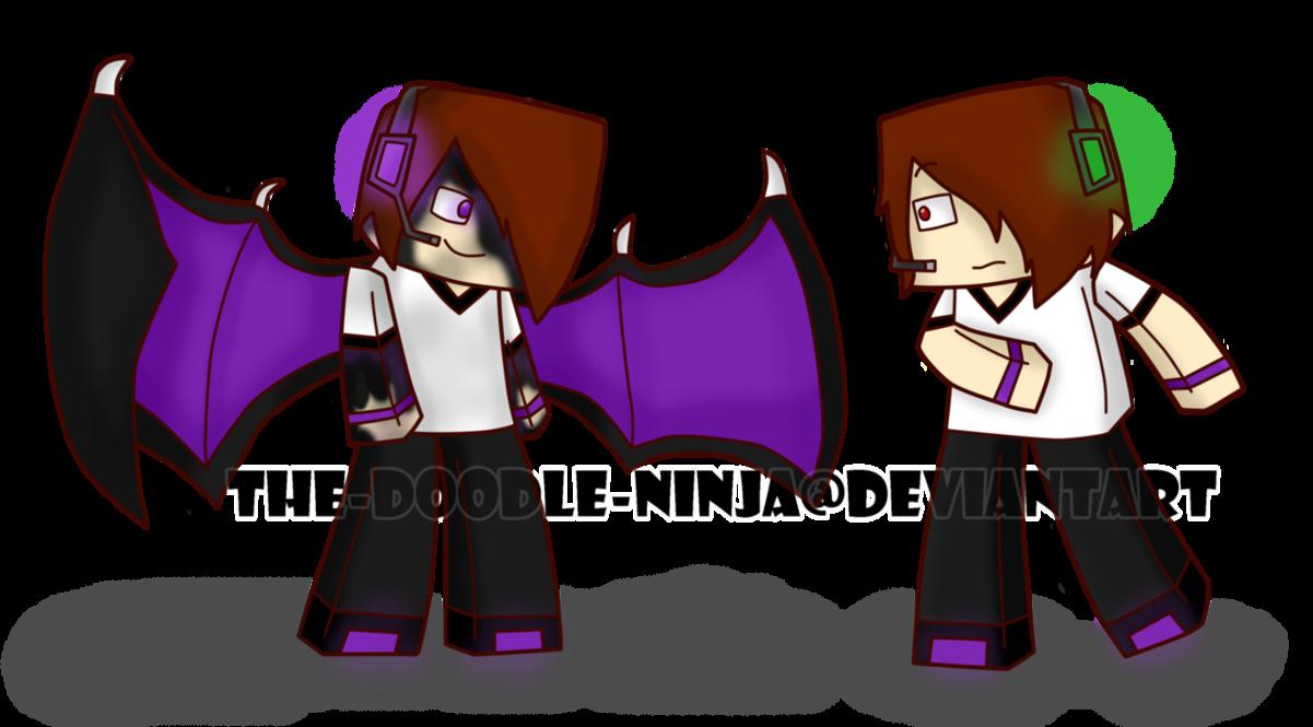 1201x665 Minecraft Deadlox And Enderlox By The Doodle Ninja