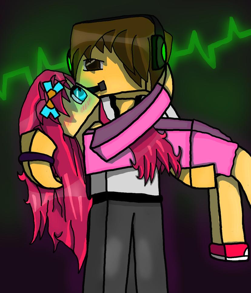 828x966 Minecraft Pinkypie253 And Deadlox By Redofpallettown