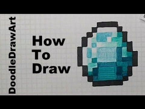 480x360 How To Draw A Minecraft Diamond
