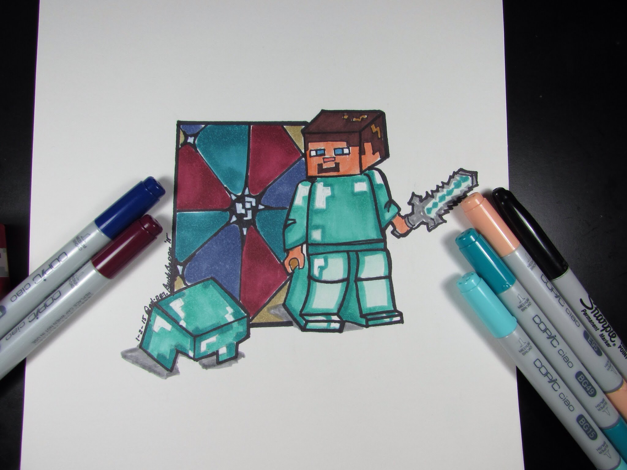 2048x1536 How To Draw Minecraft