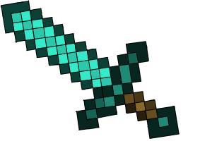 300x200 How To Draw A Minecraft Diamond Sword