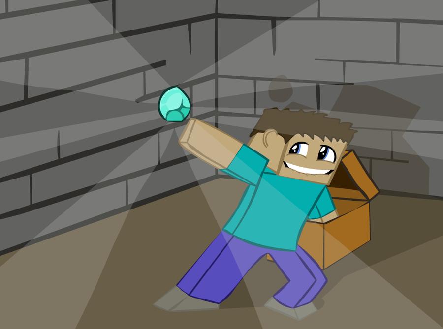 900x669 Minecraft Diamond Hunt By Kbthogers