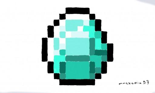 512x307 Minecraft Diamond Gem