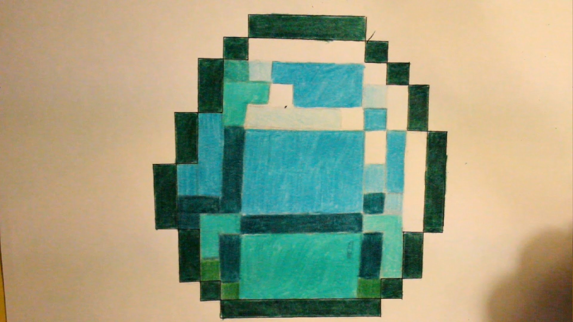 1920x1080 Steps For Drawing A 3d Diamond How To Draw A Minecraft Diamond