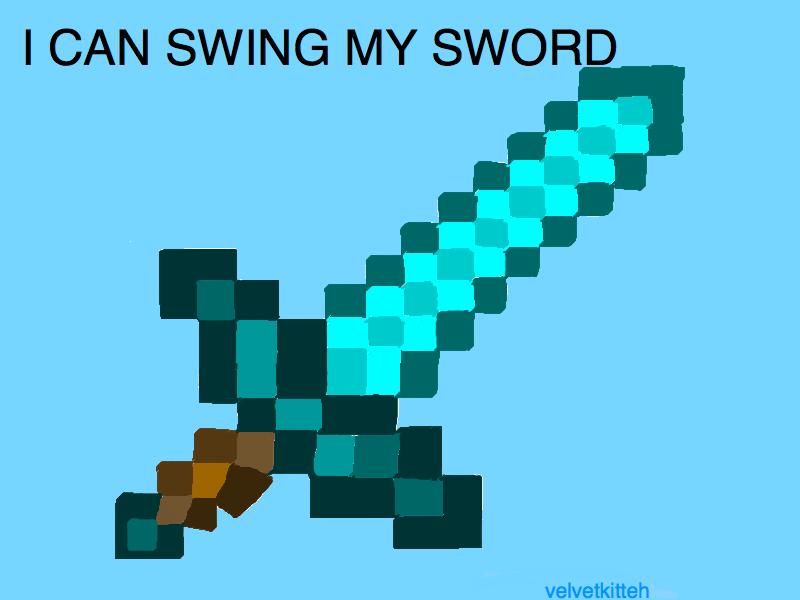 Minecraft Diamond Sword Drawing At Getdrawings Com Free