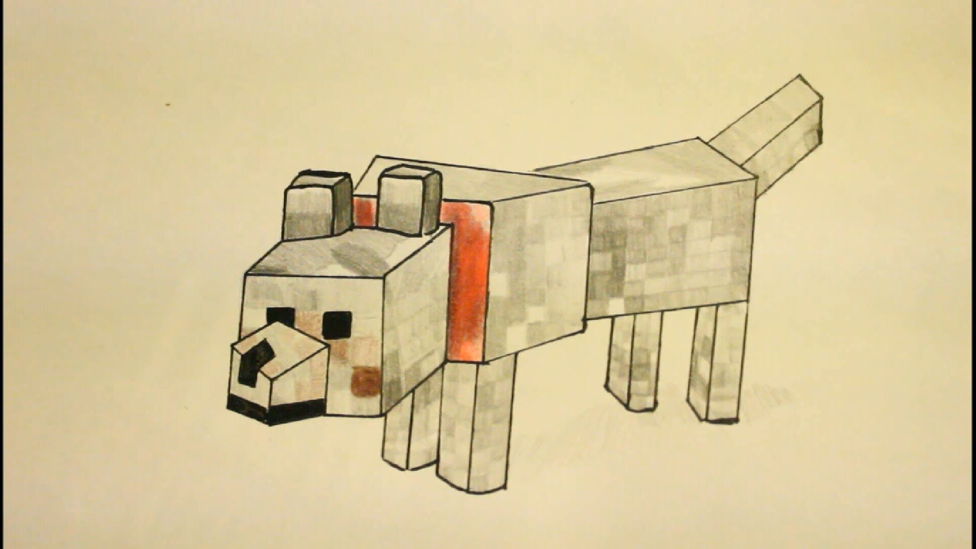 Minecraft dog drawing at getdrawings free for personal use 1920x1080 how to draw minecraft wolfstep by stepeasygregory the dog thecheapjerseys Choice Image