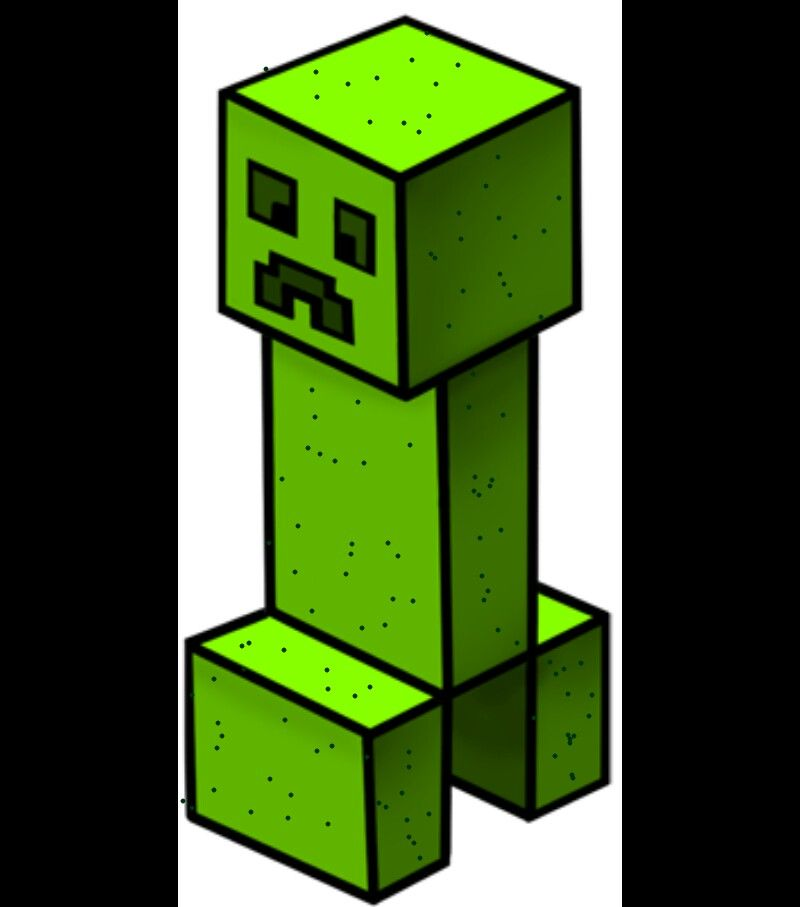 800x907 A Cute Easy To Draw Creeper! Minecraft Creepers