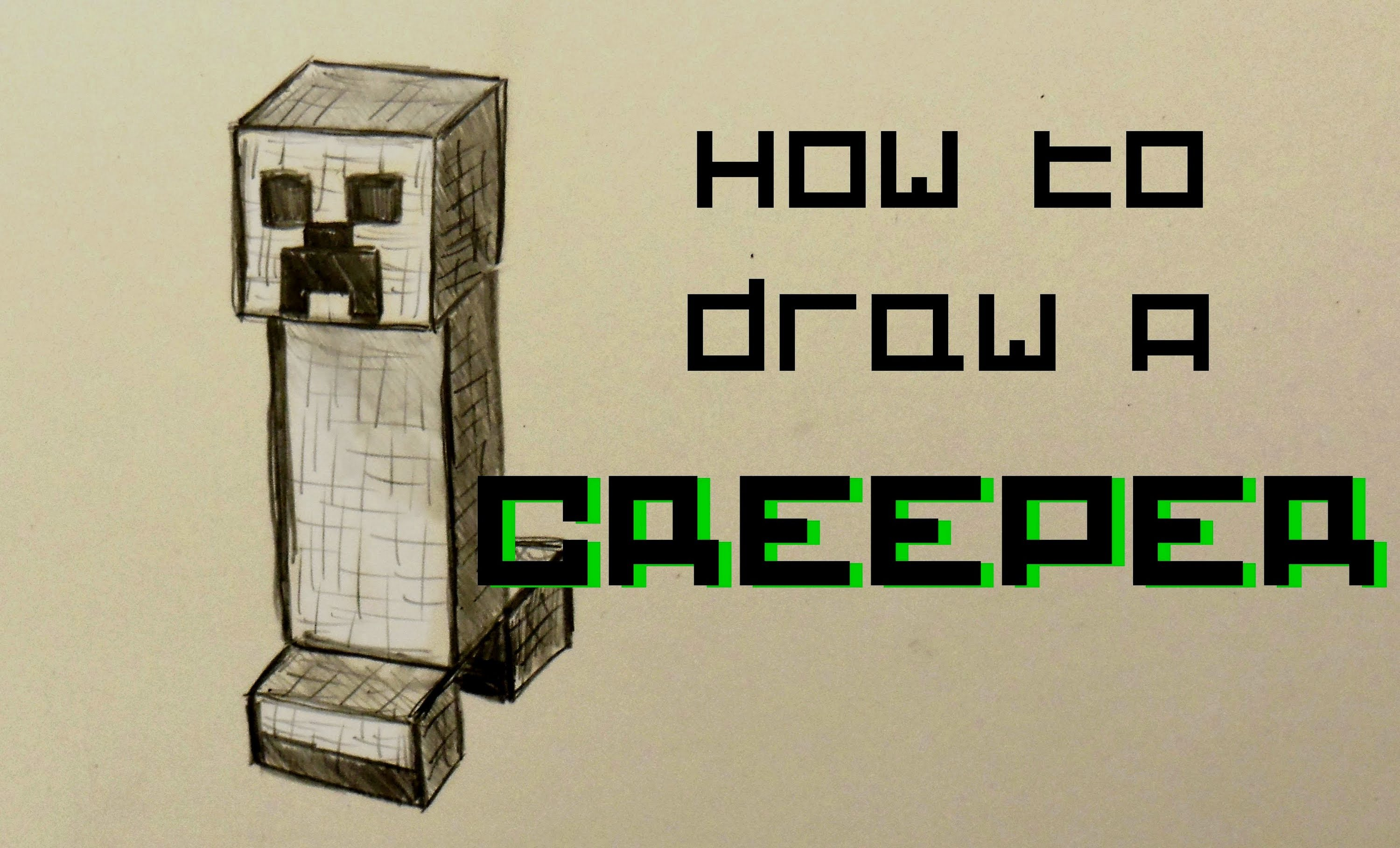 3000x1818 Ep. 52 How To Draw A Creeper From Minecraft