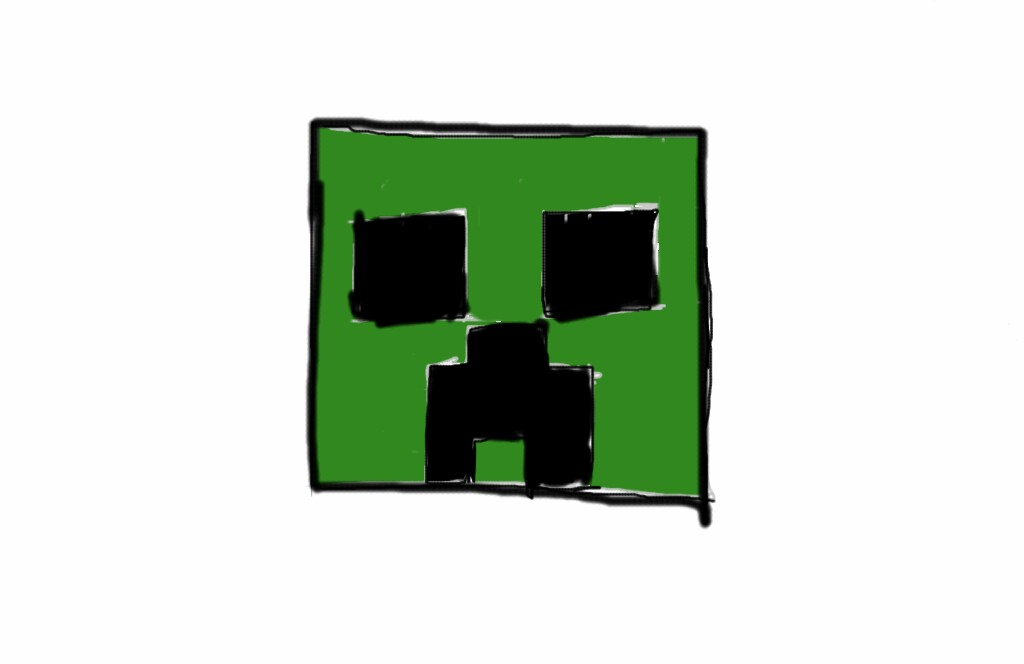 1024x664 Minecraft Creeper Face By Freedomlife01