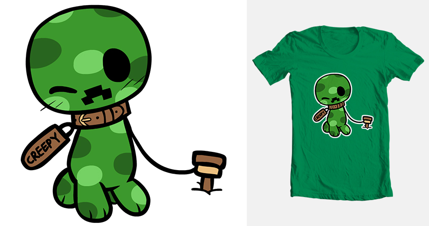 845x445 Minecraft Threadless Submission Creeper Forever By Coffgirl