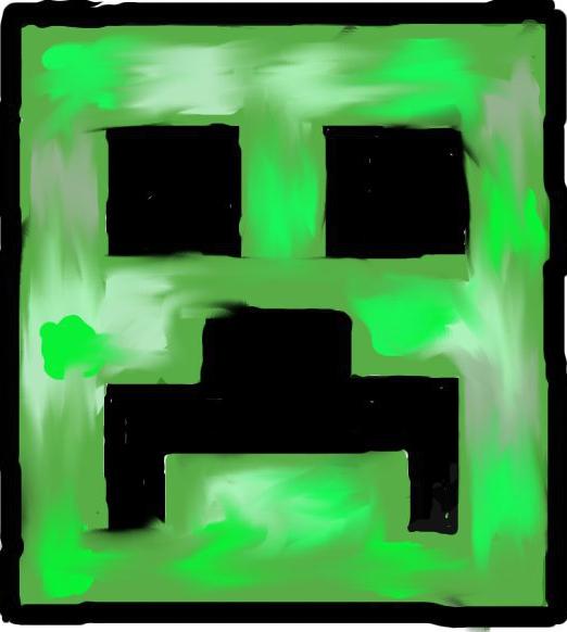 522x582 Simple Square Minecraft Creeper By Kyraycverd