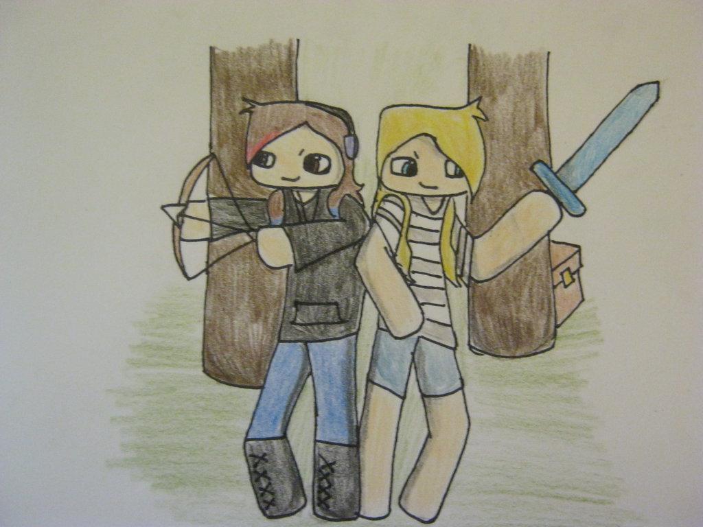 1024x768 Hunger Games Minecraft By Courtneygt
