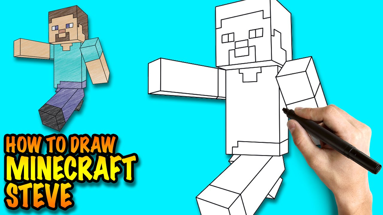 1280x720 Minecraft Drawing Games How To Draw Minecraft Steve