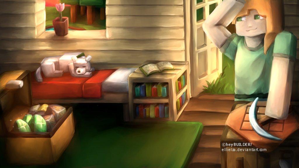 1024x576 Minecraft] Survival Banner For Heybuilder By Ellielza