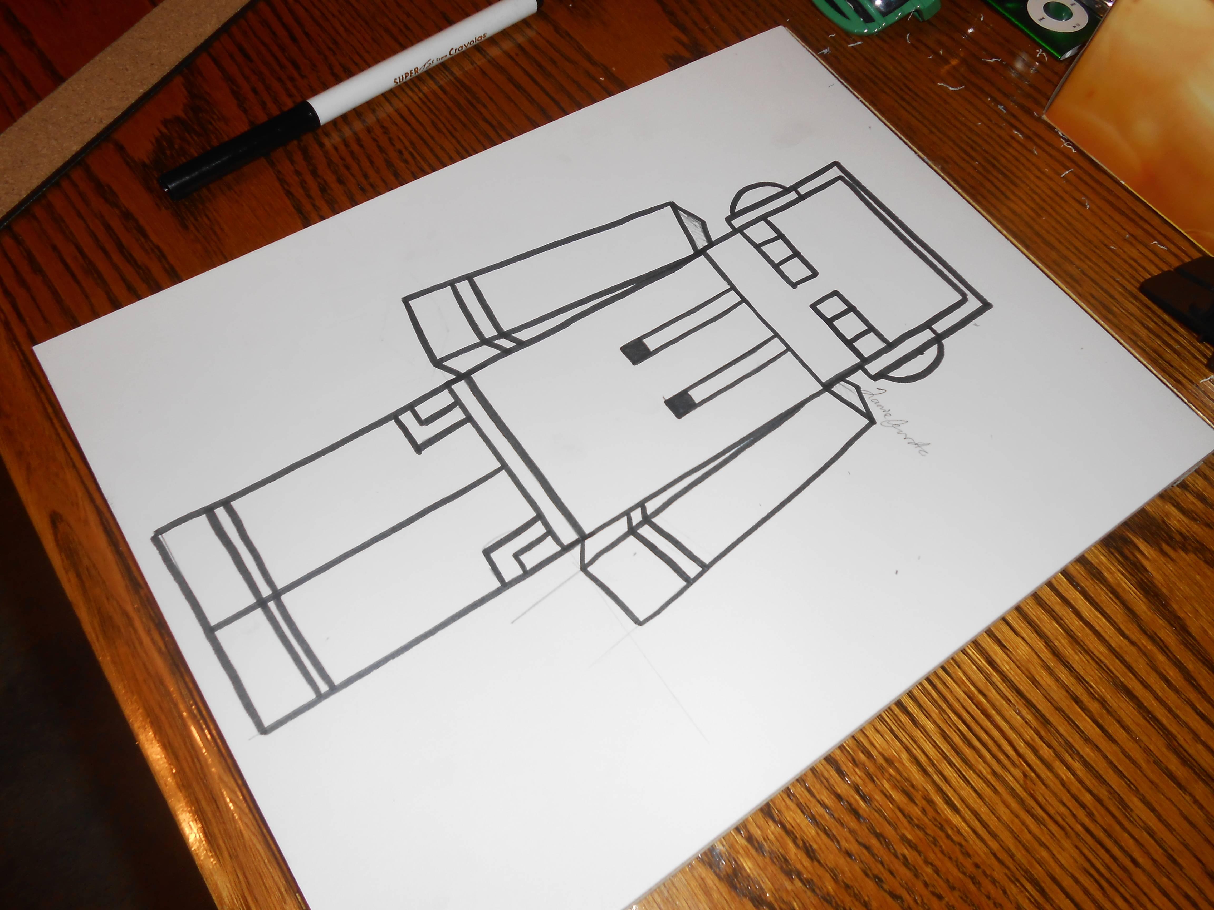 4608x3456 Minecraft Drawing! Dj Enderman