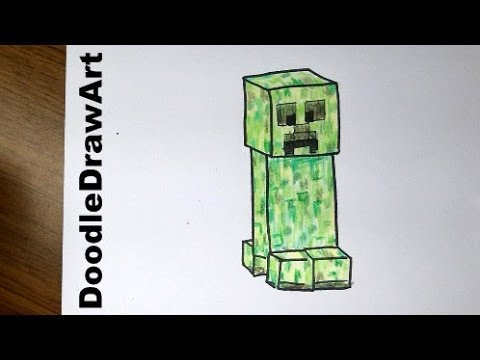 Minecraft drawing step by step at getdrawings free for 480x360 drawing how to draw a minecraft creeper altavistaventures Image collections