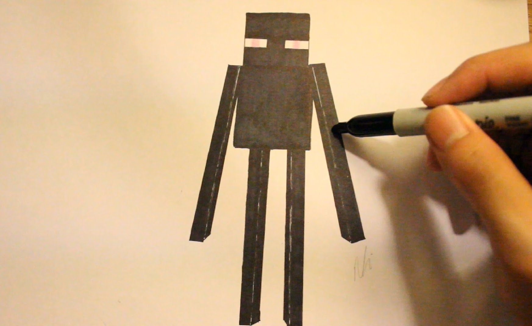1745x1071 How To Draw Enderman From Minecraftstep By Stepminecraft