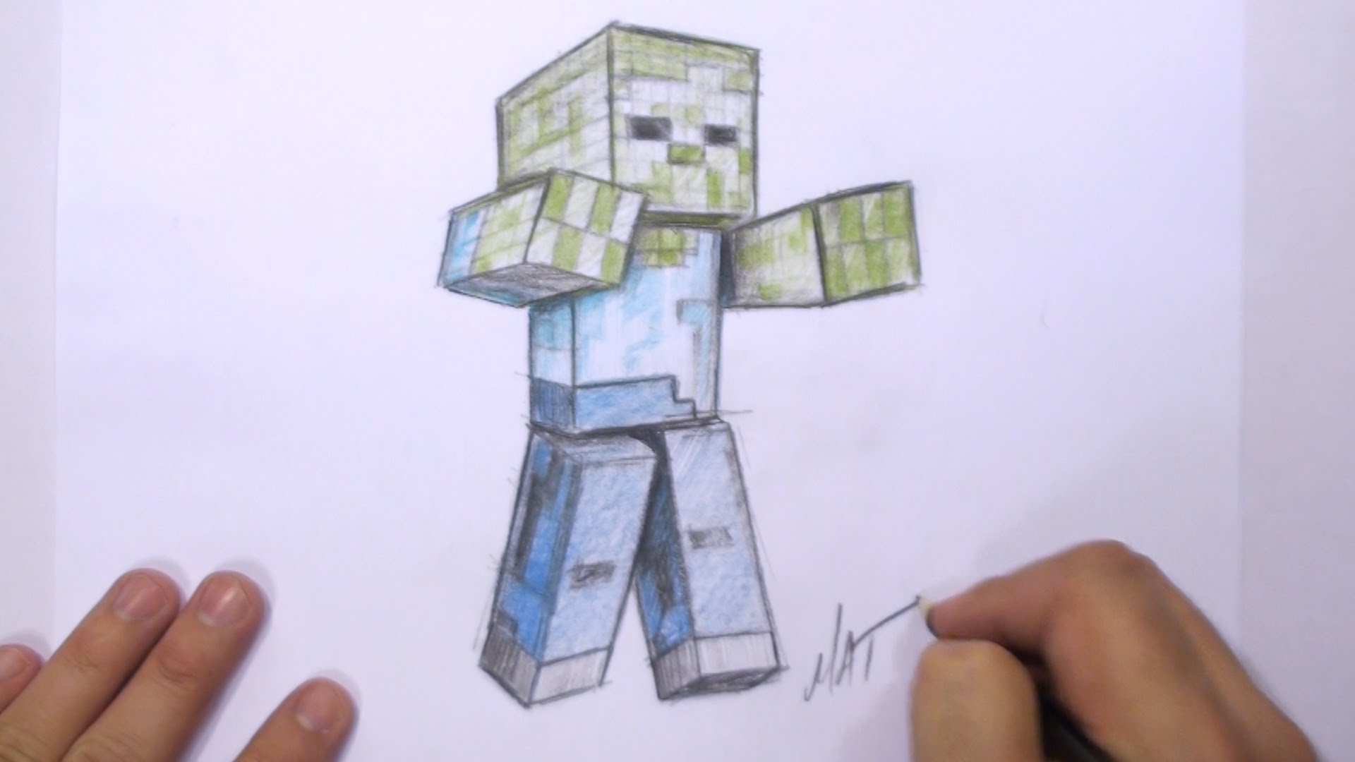 Zombie Face Line Drawing : Minecraft drawing zombie at getdrawings.com free for personal