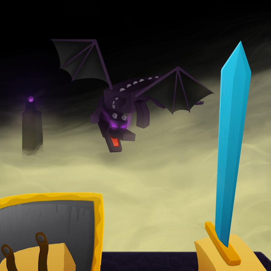 894x894 Minecraft Ender Dragon By Goldsolace