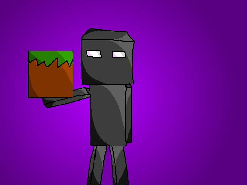 800x600 Enderman Drawing [By Frost] Minecraft Blog