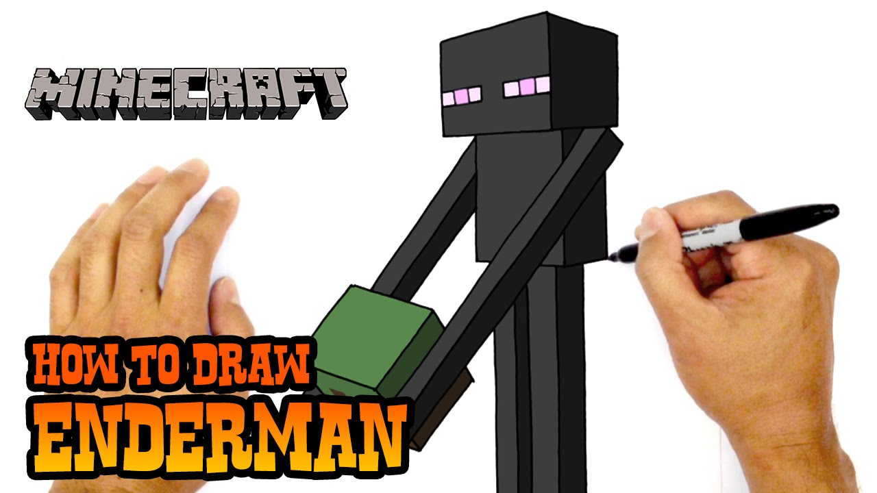 1280x720 How To Draw Enderman Minecraft