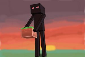 300x200 How To Draw Enderman Minecraft
