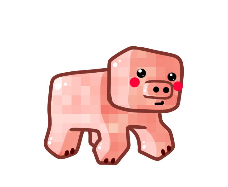 Minecraft Pig Drawing At Getdrawings Com Free For Personal Use