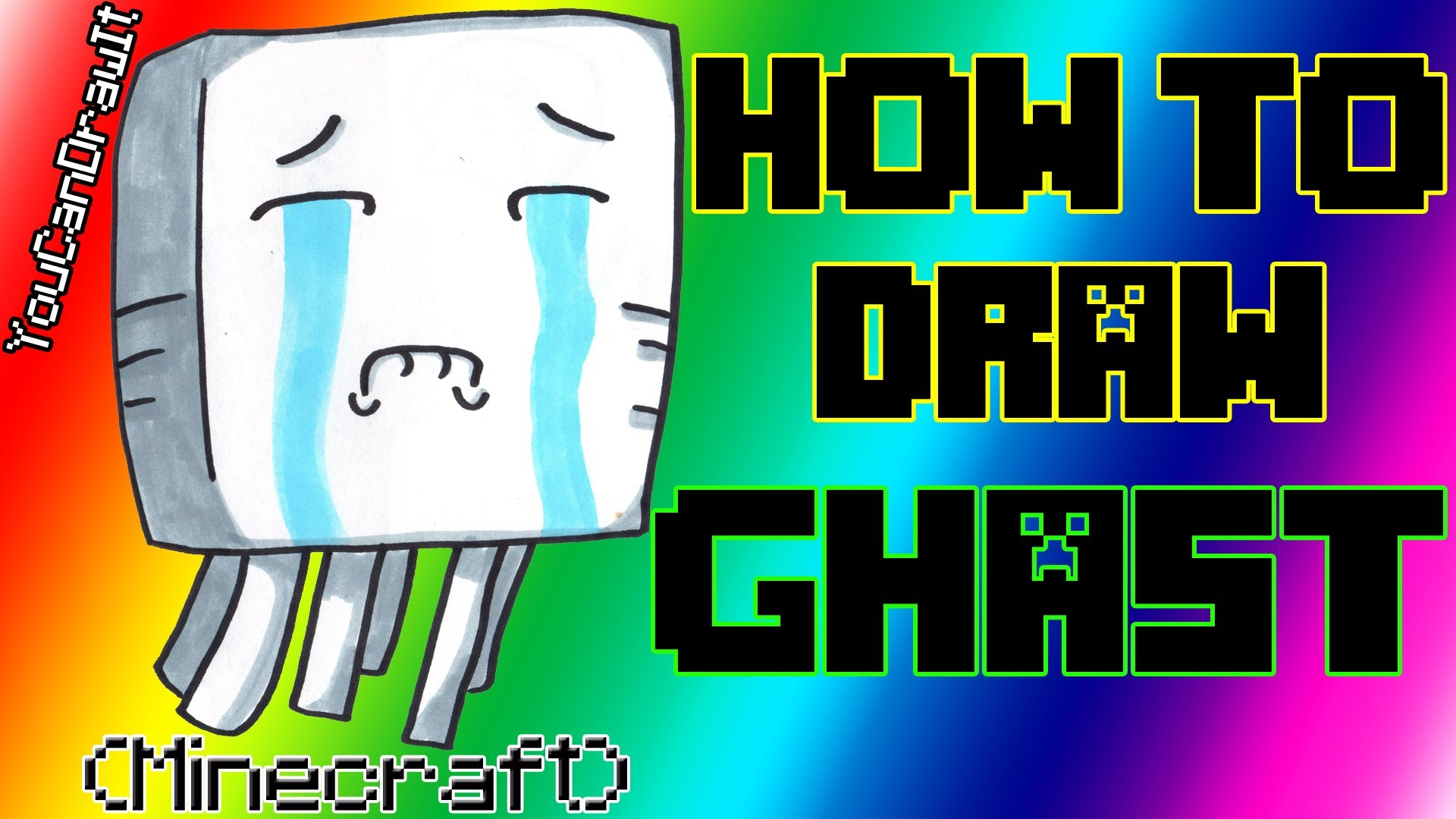 1920x1080 How To Draw Ghast From Minecraft Youcandrawit 1080p Hd