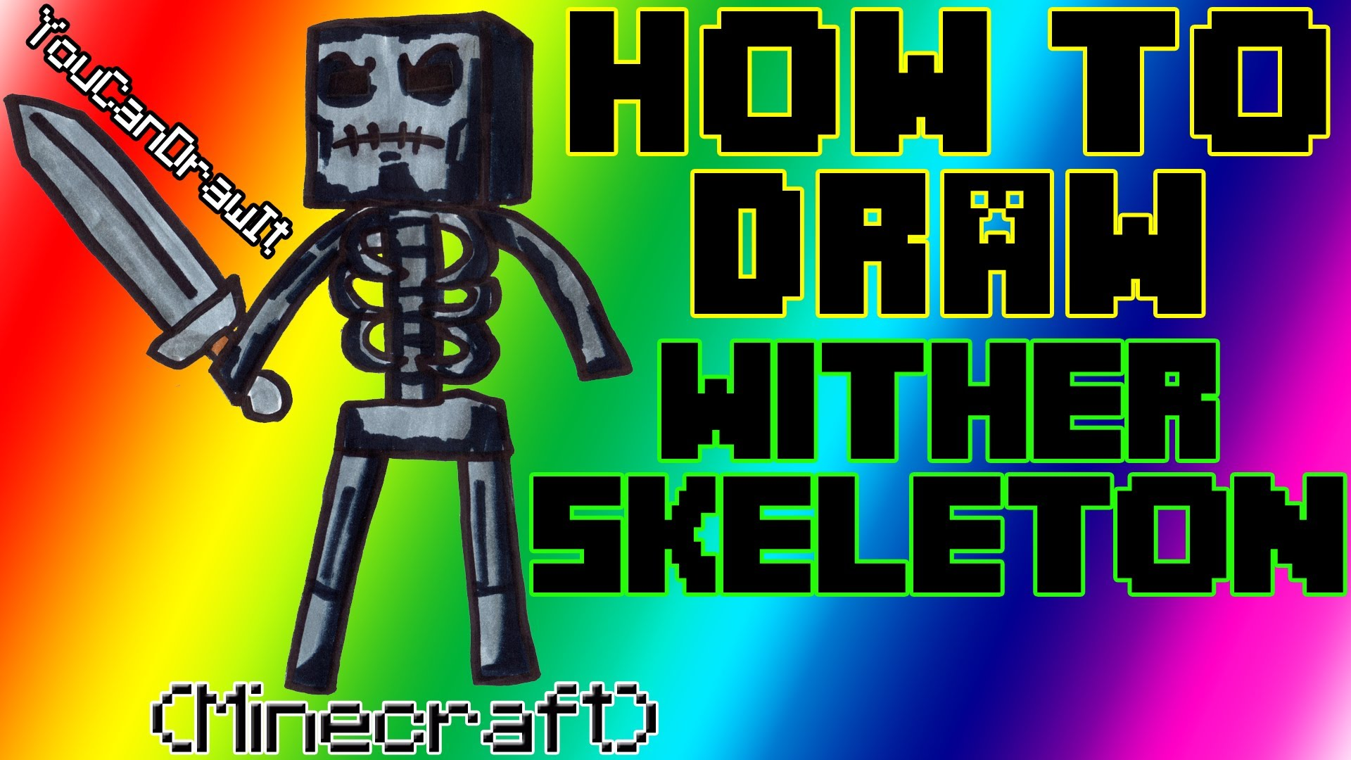 1920x1080 How To Draw Wither Skeleton From Minecraft Youcandrawit