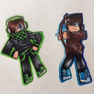 306x306 A Couple Of Minecraft Skins By Generalsoapy