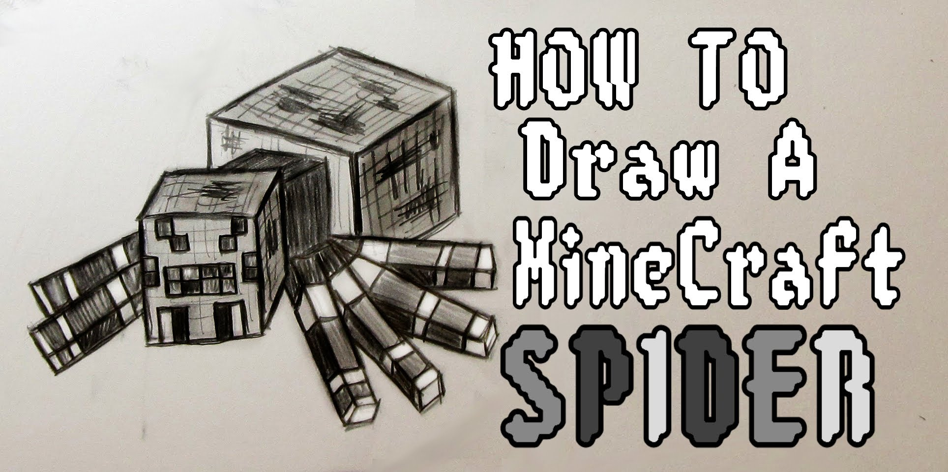 1928x960 Ep. 107 How To Draw A Minecraft Spider! + Update In Description
