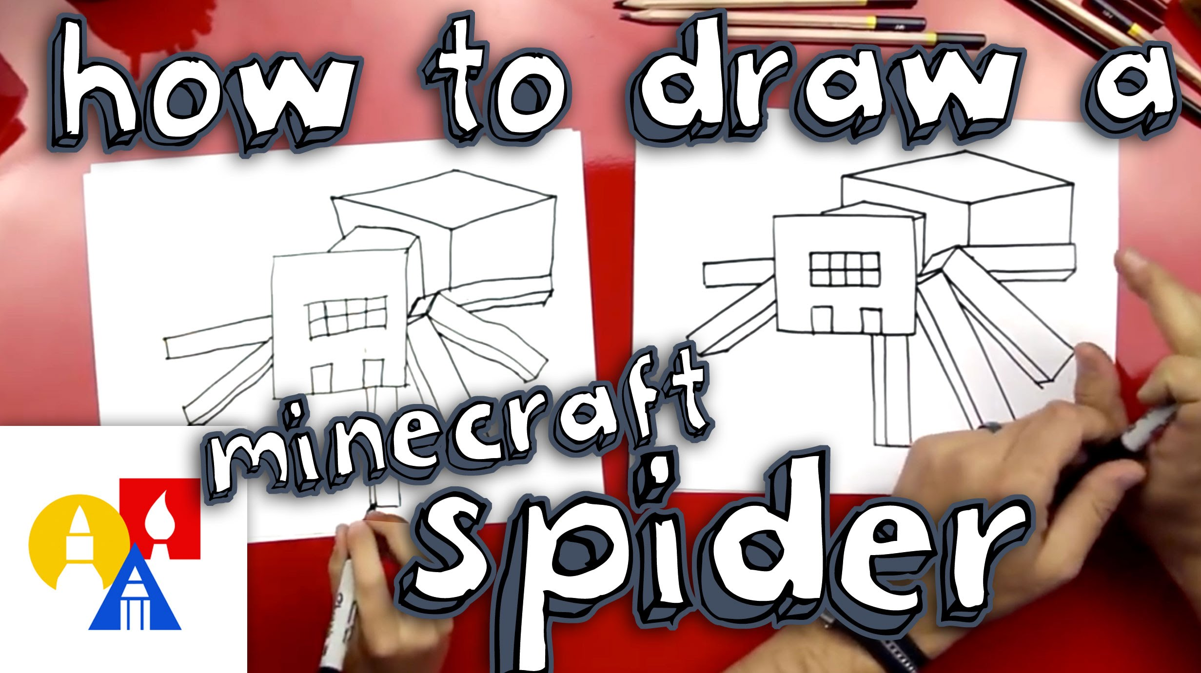 2463x1381 How To Draw A Spider From Minecraft