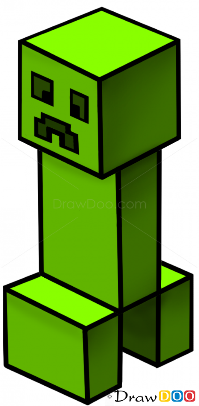 665x1357 How To Draw Creeper, Minecraft Pro Paintings
