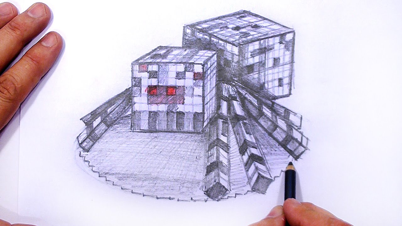 1280x720 How To Draw Minecraft Spider 3d Mat
