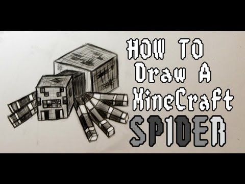 480x360 How To Draw Minecraft Spider How To Draw Minecraft