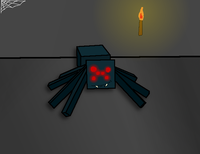 650x500 Minecraft Cave Spider By Mrarmadillo9